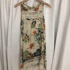 Tops - Vintage Silk + Lace Floral Top